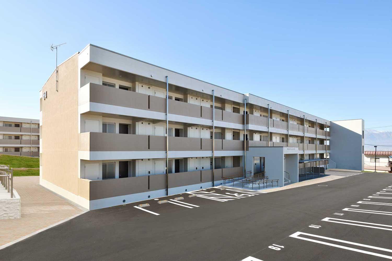 松本市営住宅寿団地B-4棟新築主体工事